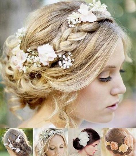 Bridal Hairstyles & Accessories. Everything must compliment the bridal gown