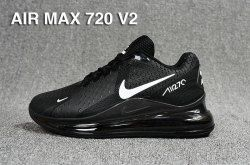 Nike Air Max 720 V2 Black With White Mens Athletic Sneakers Shoes Nike Air Max Black Nike Air Max Running Shoes