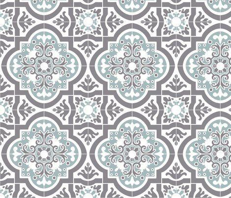 8inch tile spanish tile blue grey