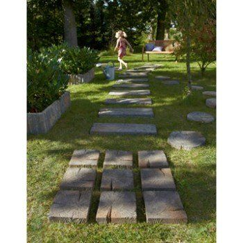 Pavé Stonewood En Béton Imitation Bois L 225 X L 225