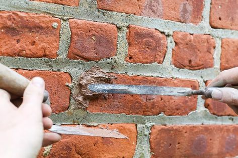 Homeowners Drill Holes In Brick Walls For A Variety Of Reasons Including Running Cable Electrical Wires Or Pipes Through The Wall