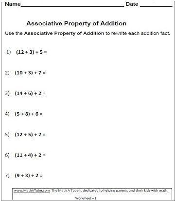 Distributive Property Printable Worksheets Free Printable Worksheets Mutative Asso In 2021 Properties Of Addition Associative Property Commutative Property Of Addition Properties of numbers worksheets