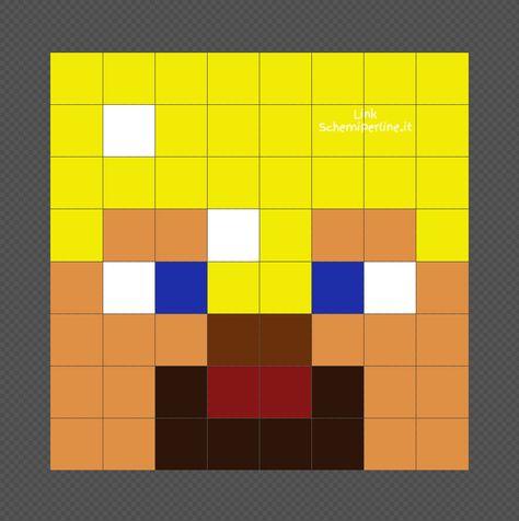 Armatura Di Catene Minecraft.Steve Di Minecraft Con Armatura D Oro Schema Pyssla Facile