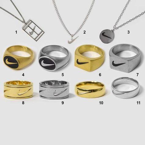 Nike Ring Swoosh Logo Mens Womens Jewellery Handmade Vintage   Etsy