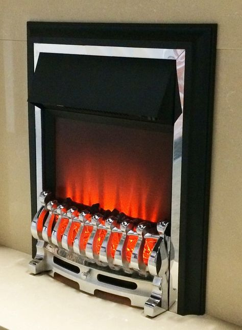 Sale Price 80 40 Ezee Glow Inset Electric Fire Chrome Finish