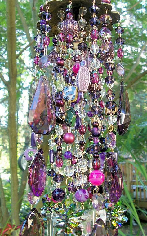 Purple Dreams Antique Crystal Wind Chime by sheriscrystals on Etsy