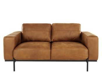 Designer 2 Sitzer Sofas Und Kleine Sofas Made Com Canape En Cuir Marron Petit Canape Canape Design