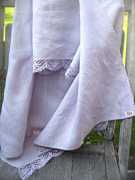 Vintage handdyed mantle scarf crochet trim by LittleBeachDesigns, $24.00