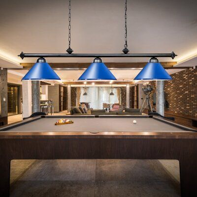 Winston Porter Eckelman 3 Light Pool Table Cone Pendant Pool