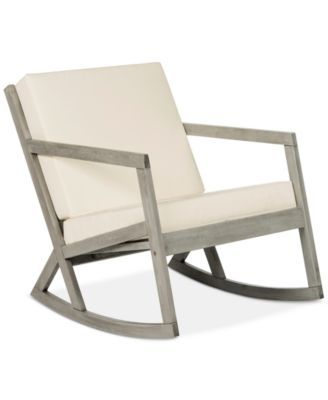 Nicksen Outdoor Rocking Chair Quick Ship Teak Brown Beige