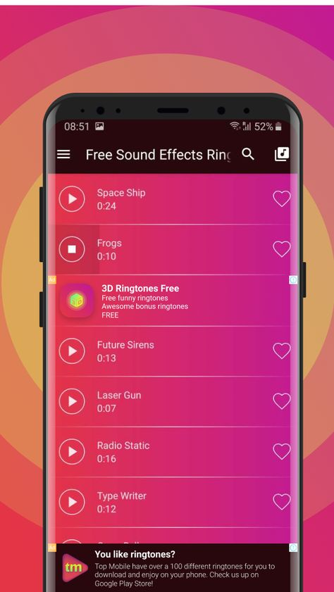 Download Sound Effect Ringtones Free App Android Now Let Your Android Ringtone Confuse People With Explosion Sound Effect Phone Ringtones Ringtones For Android