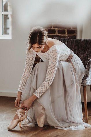 Brautkleid Gwendoline Elegante Hochzeit Kleid Boho Brautkleid