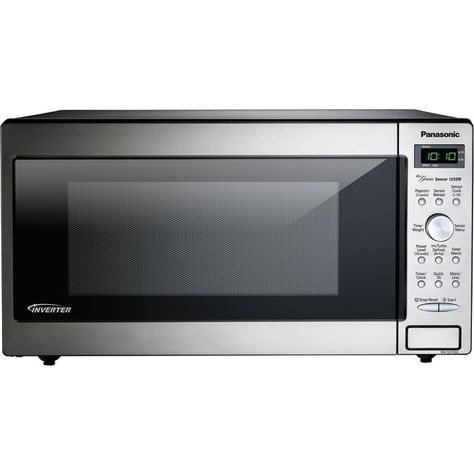 The Panasonic 1 6 Cu Ft 1250 Watt Genius Sensor Microwave Oven With Inverter Technology Is Pe Built In Microwave Countertop Microwave Built In Microwave Oven