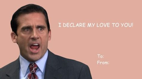 The Office Valentines Day Card The Office Pinterest Cards