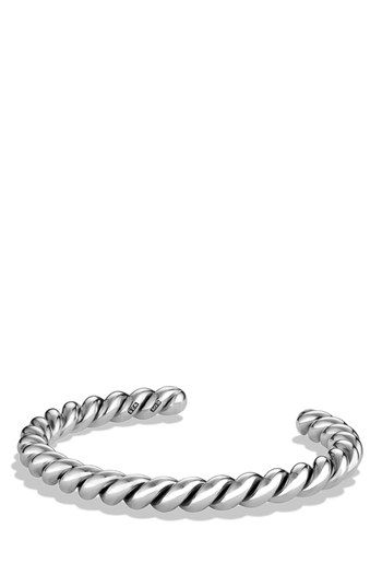 David Yurman 'Sculpted Cable' Cuff Bracelet available at #Nordstrom