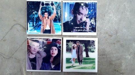 Ceramic Tile Coasters Say Anything John Cusack Ione Skye 80s Movies Cameron Crowe Seattle Represent