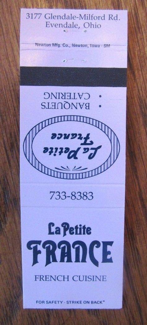 1461. LE PETITE RESTAURANT EVENDALE OH   French cuisine ...