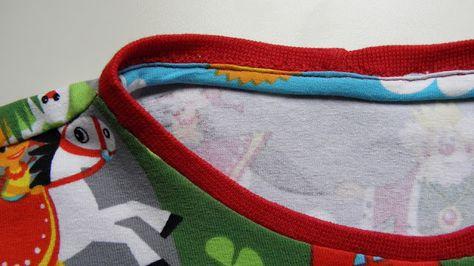 Tutorial para coser cuello de tela de puño y ocultar la costura.