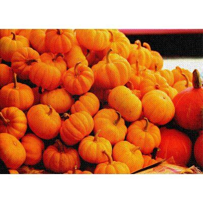 East Urban Home Pumpkins Cotton Orange Area Rug Orange Aesthetic Orange Area Rug Pastel Aesthetic