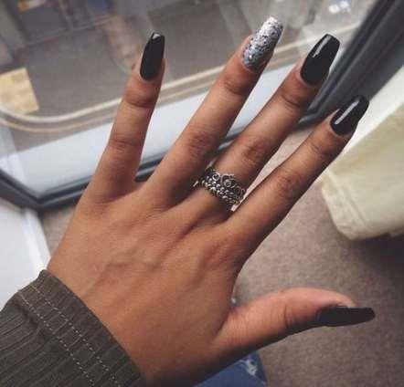70 Trendy Nails Acrylic Square Medium Simple Square Acrylic Nails Coffin Shape Nails Black Prom Nails