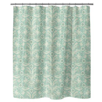 Winston Porter Fujimoto Single Shower Curtain Colour Mint Green