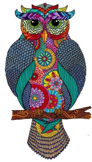 Owlmazing - Owl By Hello Angel Abstract Counted Cross Stitch Kit