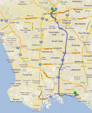 L A River Excursion Bicycle Journey To Long Beach In 2020 Excursions Long Beach City Of Vernon