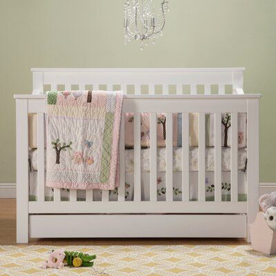 Davinci Piedmont 4 In 1 Convertible Crib With Storage Birch Lane In 2020 Convertible Crib Cribs Under Crib Storage