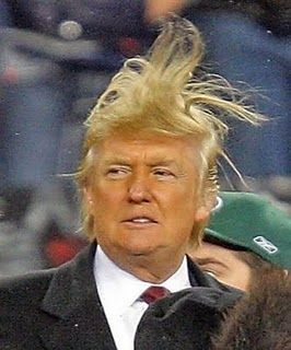 Once upon a time, there was a man born, named Donald Trump. He was a nice boy with TERRIBLE hair. His father, a rich real estate mogul, brought his son up with a silver spoon in his m.