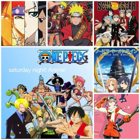 Bleach Naruto Shippuden One Piece Soul Eater Sword Art Online Foolycooly! All tonight!!!