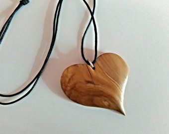 Items Similar To Wood Jewelry Wooden Heart Pendant Wooden Heart Necklace Wooden Carved Pend Wooden Heart Pendant Wooden Jewelry Stand Wooden Jewelry Display