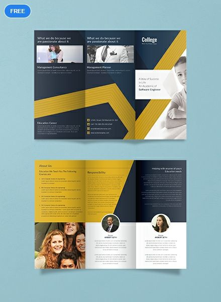 Free College Tri Fold Brochure Template Word Doc Psd Apple Mac Pages Illustrator Publisher College Brochure Brochure Template Brochure Design Template