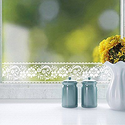 3 94in X 32 8ft Roll White Lace Transparent Removable Self Adhesive Wallpaper Border P Wall Stickers Living Room Floral Wallpaper Border Flower Wall Stickers