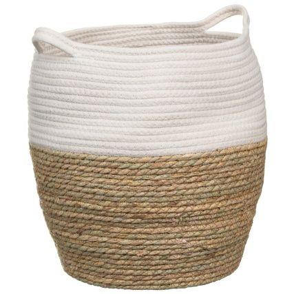 Two Tone Storage Basket Storage Baskets Decorative Storage Basket