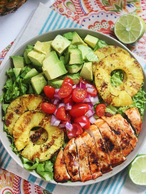 Idées salades colorées et équilibrées