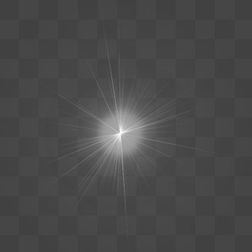 White Flash Light Lens Flare Effect Abstract Light