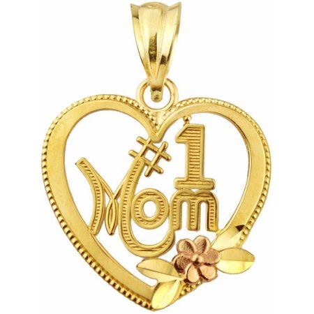 Handcrafted 10kt Gold 1 Mom Two Tone Charm Pendant In 2021 Charm Pendant 10kt Gold Antique Jewelry Box