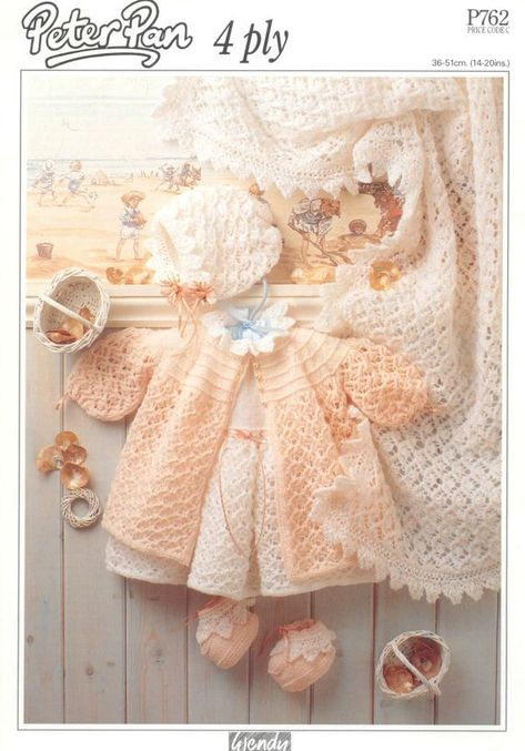 6eb656b29c5c PDF Knitting Pattern for Baby Layette Set - Instant Download ...