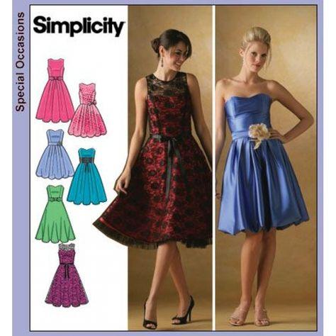 Deutsches Schnittmuster Simplicity 7043 Kleid