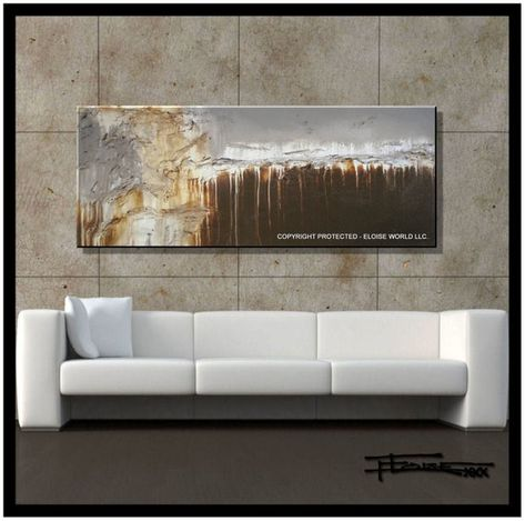 EXTRA LARGE ABSTRACT RECTANGLES CANVAS PICTURE 60/""