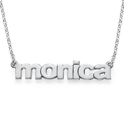 bc873f3ca7c268 Wear your name in a fun, trendy way with our new Nameplate Necklace in  Lowercase Font. Don't be fooled by the use of lowercase letters because  this name ...