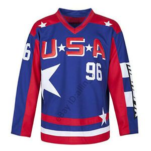 Charlie Conway 96 Team Usa Men S Hockey Jersey Movie Hockey Jersey Stitched In 2020 Usa Hockey Jersey Team Usa Hockey Hip Hop Outfits
