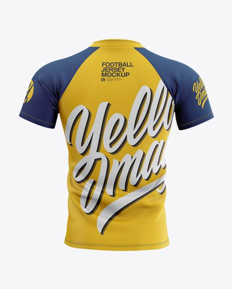 Download Men S Football Jersey Mockup Back View In Apparel Mockups On Yellow Images Object Mockups Clothing Mockup Design Mockup Free Mockup Free Psd