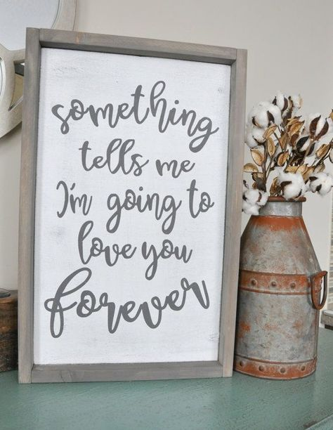 Something Tells Me Wood Sign. Gallery wall. Rustic wood sign.