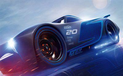 Download Wallpapers Jackson Storm 2017 Movie Art Pixar 3d Animation Cars 3 Disney Besthqwallpapers Com Cars 3 Trailer Pixar Pixar Cars