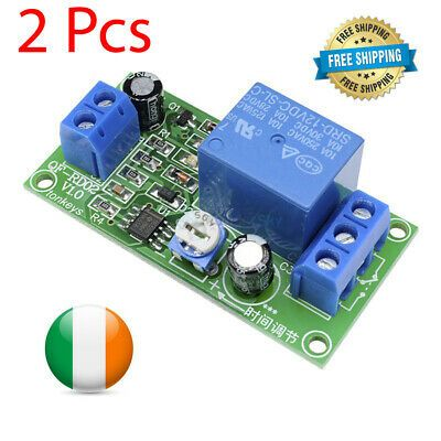 2x Ne555 Delay Time Relay Timer Switch Adjustable Digital Led Module Board 12v In 2020 Led Module Timer Relay