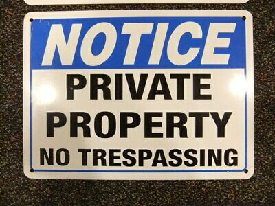 Private Drive No Trespassing SignHeavy Duty Sign or Label OSHA Notice