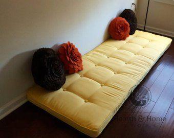 Custom On Tufted Window Seat Cushion With Cording
