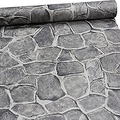 11 Yards Stone Wallpaper Peel And Stick Removable Castle Tower Rustic Contact Paper Rock Self Adhesiv Faux Stone Wallpaper Stone Wallpaper Grey Stone Wallpaper