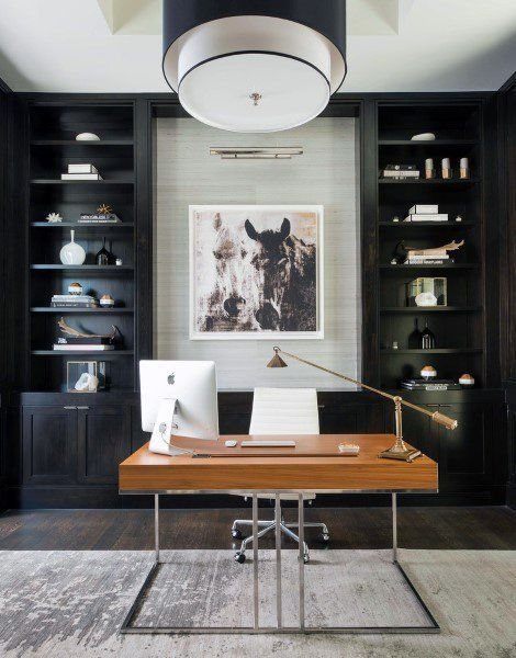 I Love This Look For Office Interior Design And Decor Inspo Great Color Palette Of Whites Grays Home Office Design Modern Home Office Office Interior Design